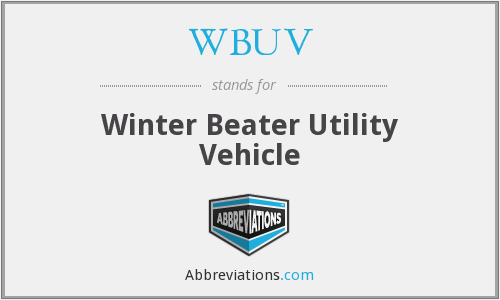 What does WBUV stand for?