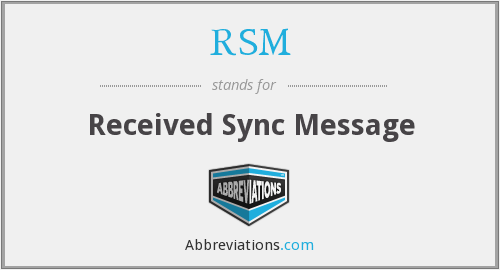 RSM - Received Sync Message