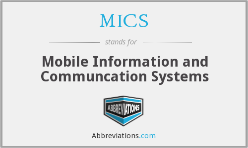 MICS - Mobile Information and Communcation Systems