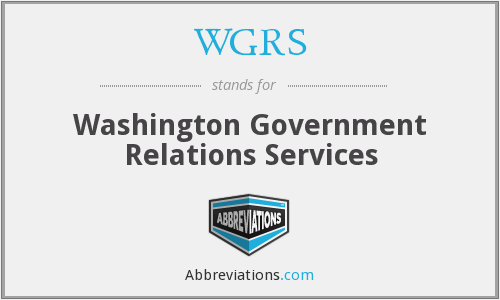 WGRS - Washington Government Relations Services
