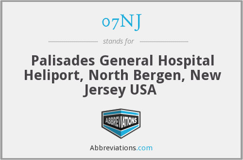 07NJ - Palisades General Hospital Heliport, North Bergen, New Jersey USA