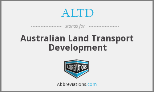 ALTD - Australian Land Transport Development