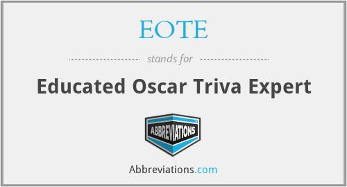 EOTE - Educated Oscar Triva Expert