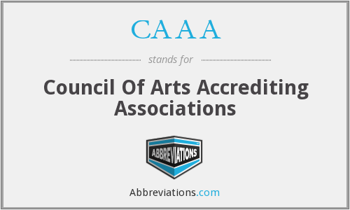 CAAA - Council Of Arts Accrediting Associations