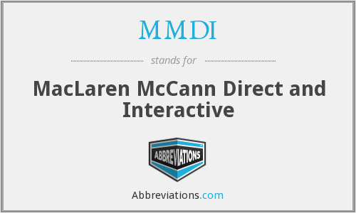 MMDI - MacLaren McCann Direct and Interactive
