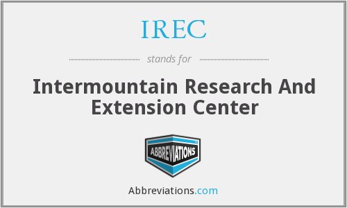 IREC - Intermountain Research And Extension Center