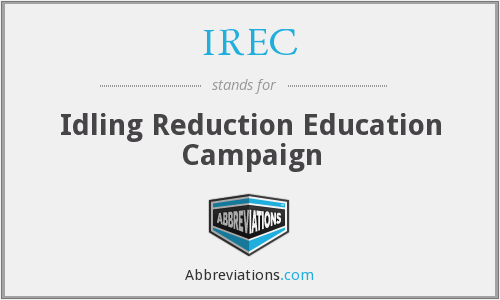 IREC - Idling Reduction Education Campaign