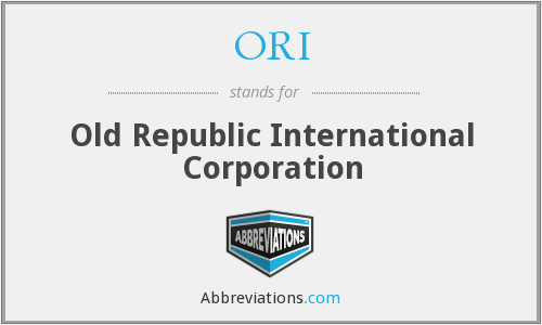 ORI - Old Republic International Corporation