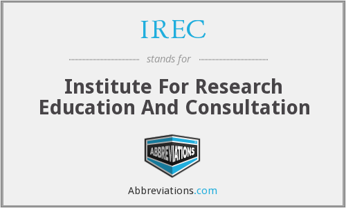 IREC - Institute For Research Education And Consultation
