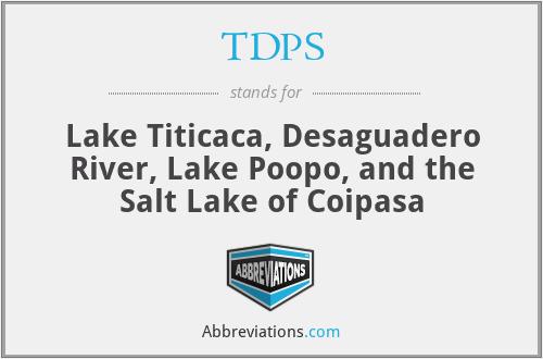 TDPS - Lake Titicaca, Desaguadero River, Lake Poopo, and the Salt Lake of Coipasa