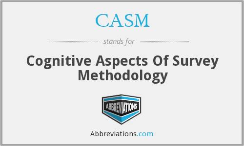 CASM - Cognitive Aspects Of Survey Methodology