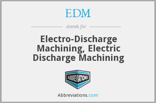 EDM - Electro-Discharge Machining, Electric Discharge Machining