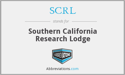 SCRL - Southern California Research Lodge