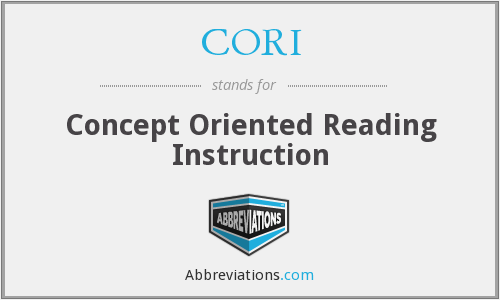 CORI - Concept Oriented Reading Instruction