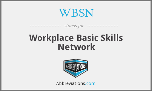 WBSN - Workplace Basic Skills Network