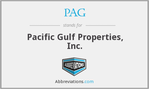 PAG - Pacific Gulf Properties, Inc.