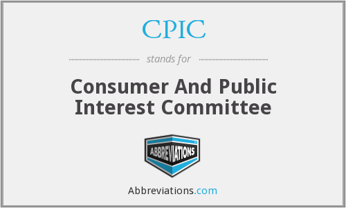 CPIC - Consumer And Public Interest Committee