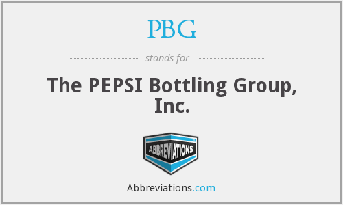 PBG - The PEPSI Bottling Group, Inc.