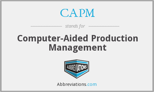 CAPM - Computer-Aided Production Management