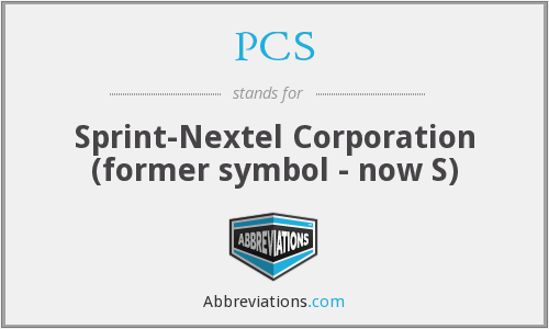 PCS - Sprint-Nextel Corporation (former symbol - now S)