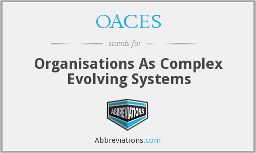 OACES - Organisations As Complex Evolving Systems