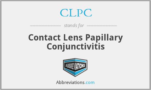 CLPC - Contact Lens Papillary Conjunctivitis