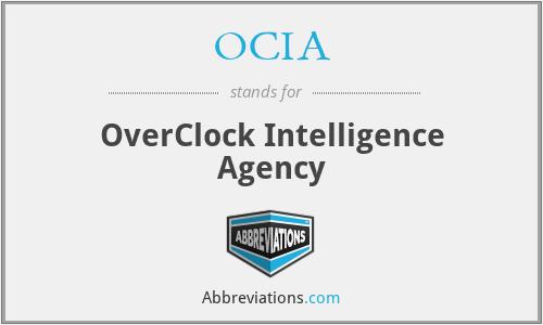 OCIA - OverClock Intelligence Agency