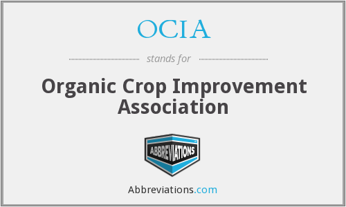 OCIA - Organic Crop Improvement Association