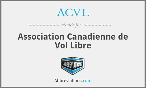 ACVL - Association Canadienne de Vol Libre