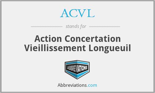 ACVL - Action Concertation Vieillissement Longueuil