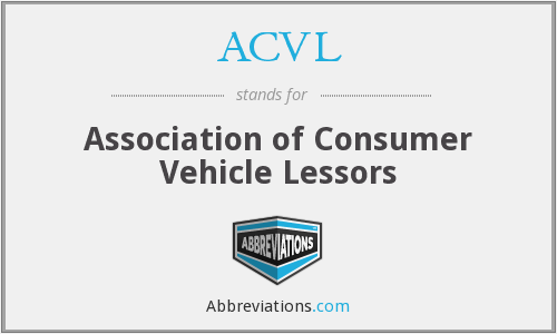 ACVL - Association of Consumer Vehicle Lessors