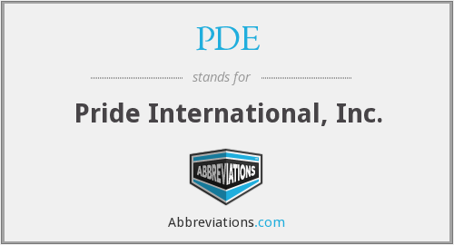 PDE - Pride International, Inc.