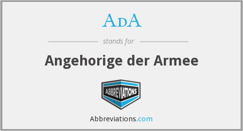 AdA - Angehorige der Armee