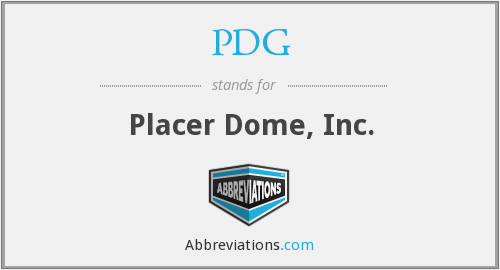 PDG - Placer Dome, Inc.