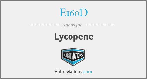 E160D - Lycopene