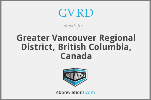 GVRD - Greater Vancouver Regional District, British Columbia, Canada