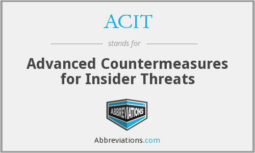 ACIT - Advanced Countermeasures for Insider Threats