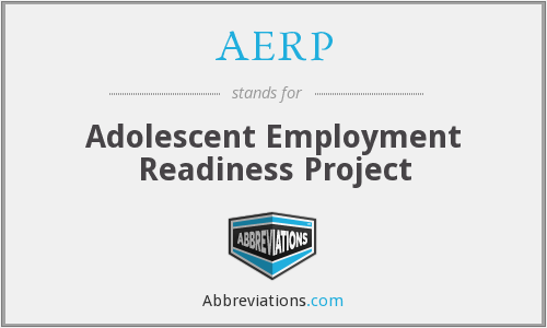 AERP - Adolescent Employment Readiness Project