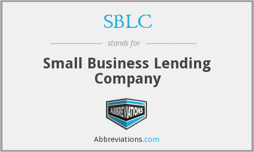 SBLC - Small Business Lending Company