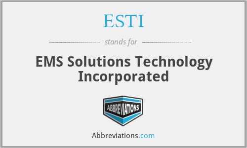 ESTI - Ems Solutionses Technology Inc