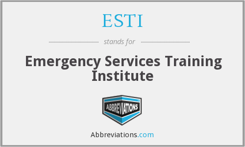 ESTI - Emergency Services Training Institute