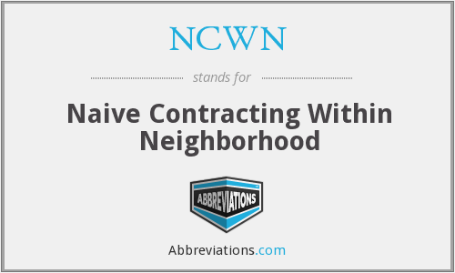 NCWN - Naive Contracting Within Neighborhood