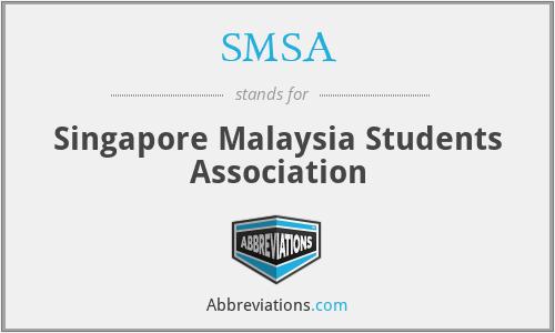 SMSA - Singapore Malaysia Students Association