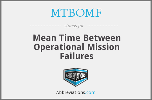MTBOMF - Mean Time Between Operational Mission Failures