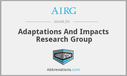 AIRG - Adaptations And Impacts Research Group
