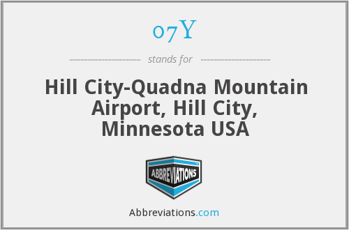 07Y - Hill City-Quadna Mountain Airport, Hill City, Minnesota USA