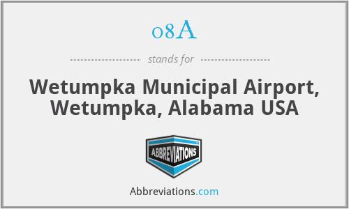 08A - Wetumpka Municipal Airport, Wetumpka, Alabama USA