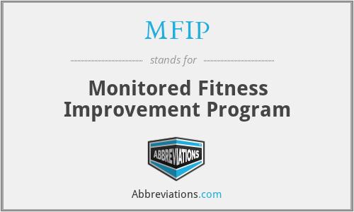 MFIP - Monitored Fitness Improvement Program
