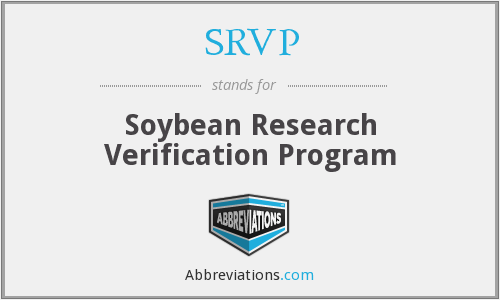 SRVP - Soybean Research Verification Program