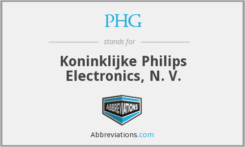 PHG - Koninklijke Philips Electronics, N. V.